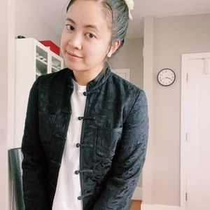 VINTAGE LUCKY BRAND Black Chinese Collar Jacket